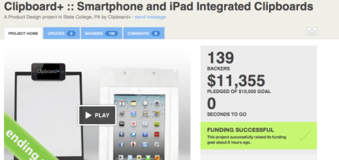 Clipboard+ Successfully Funded on Kickstarter